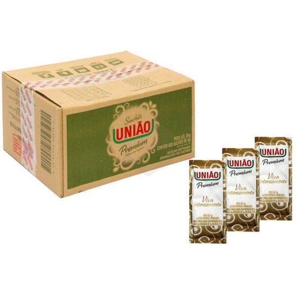 Açúcar União – sachê 5grs (caixa com 400 unid.)