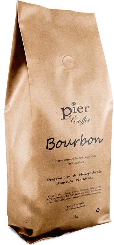 pier coffee pacote café bourbon-1kg